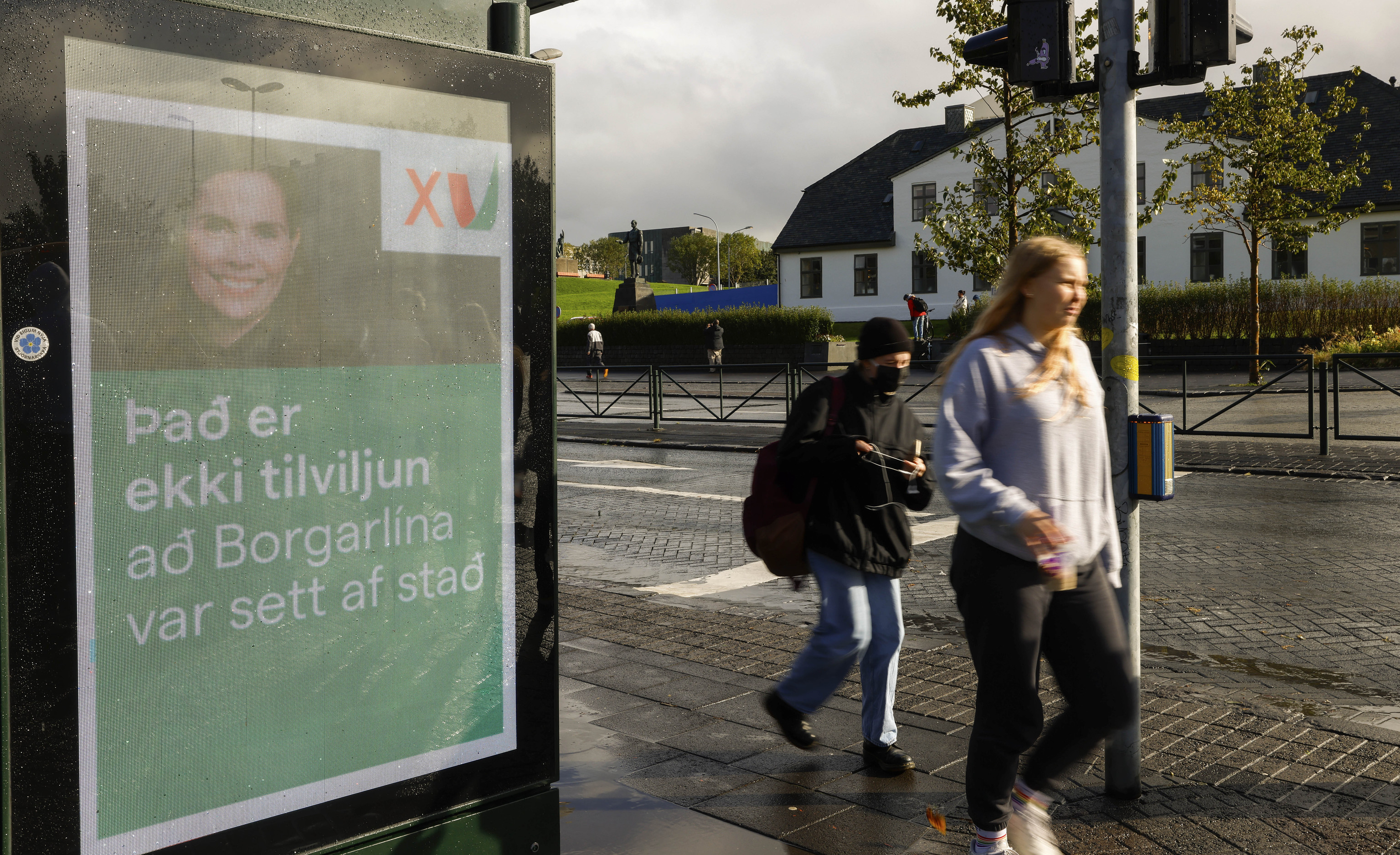 Cartel del Partido Verde en Islandia.