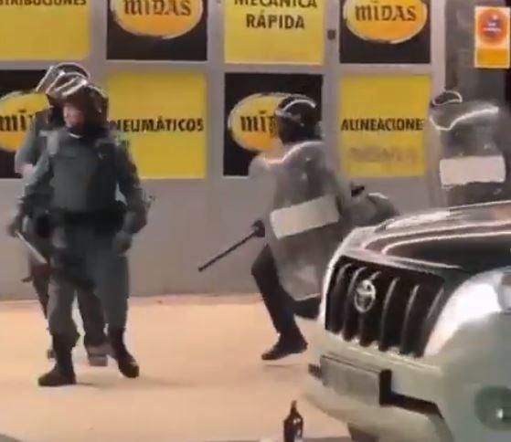 Guardia Civil desplegada en Villaviciosa de Odón.
