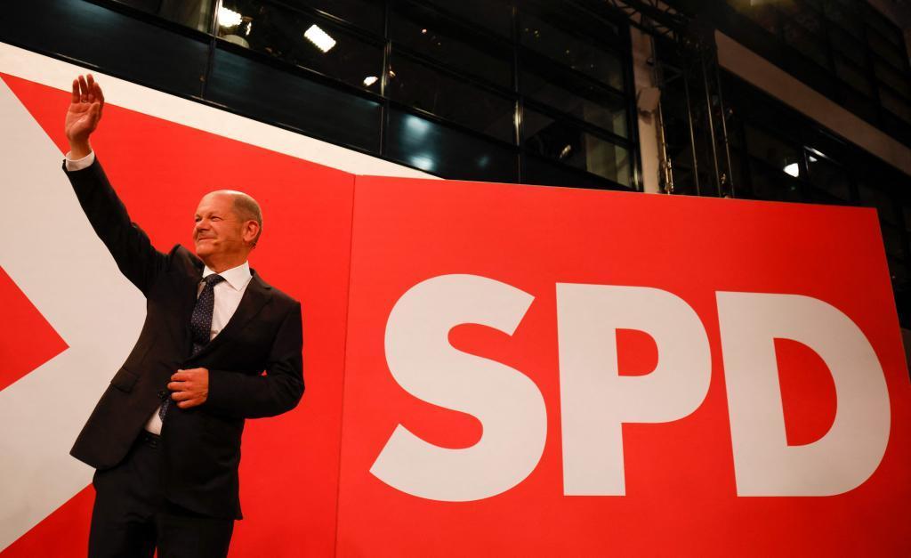 El candidato del SPD a la Cancillería, Olaf Scholz.