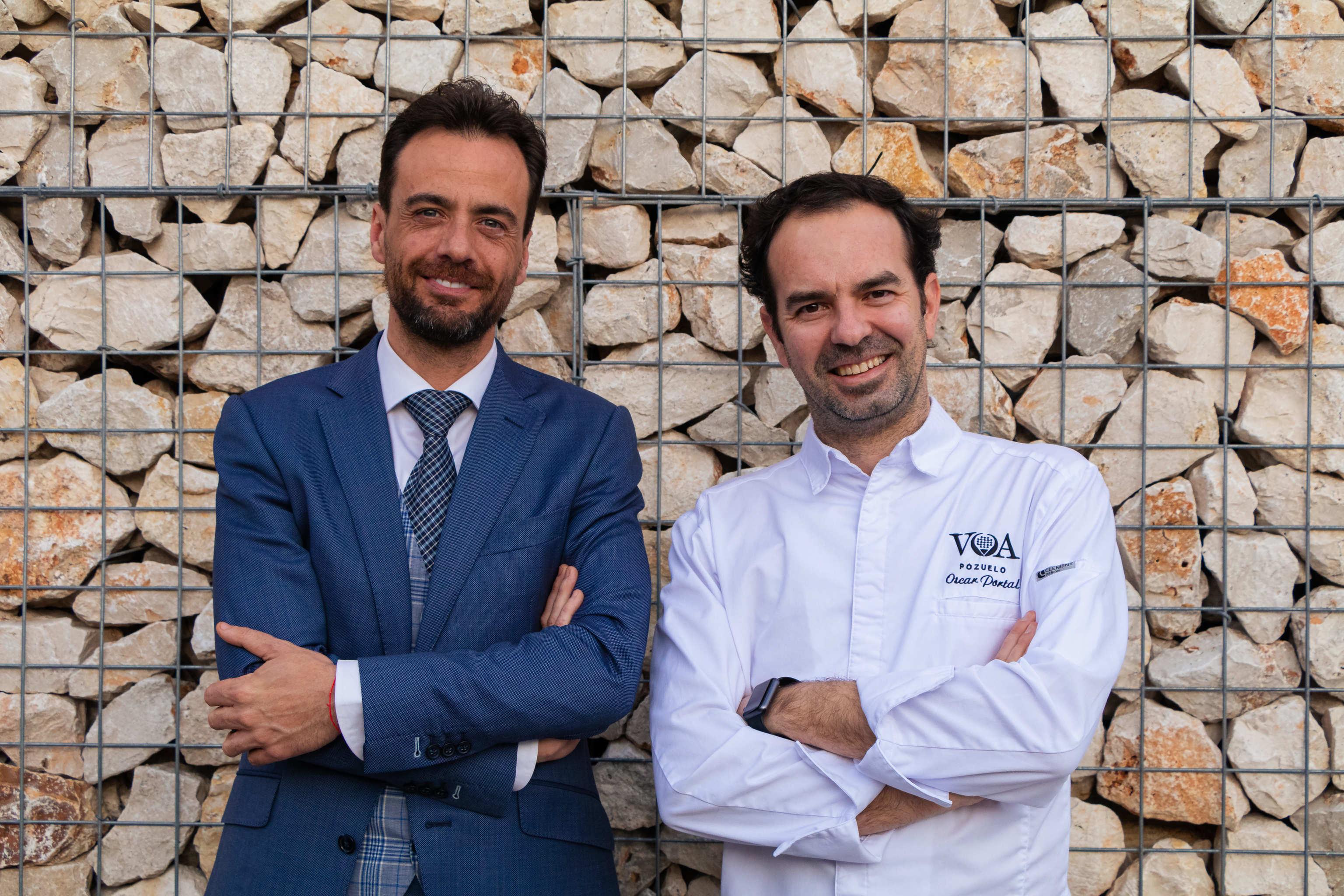 El tándem de Volea, Jorge Dávila y el chef Óscar Portal.