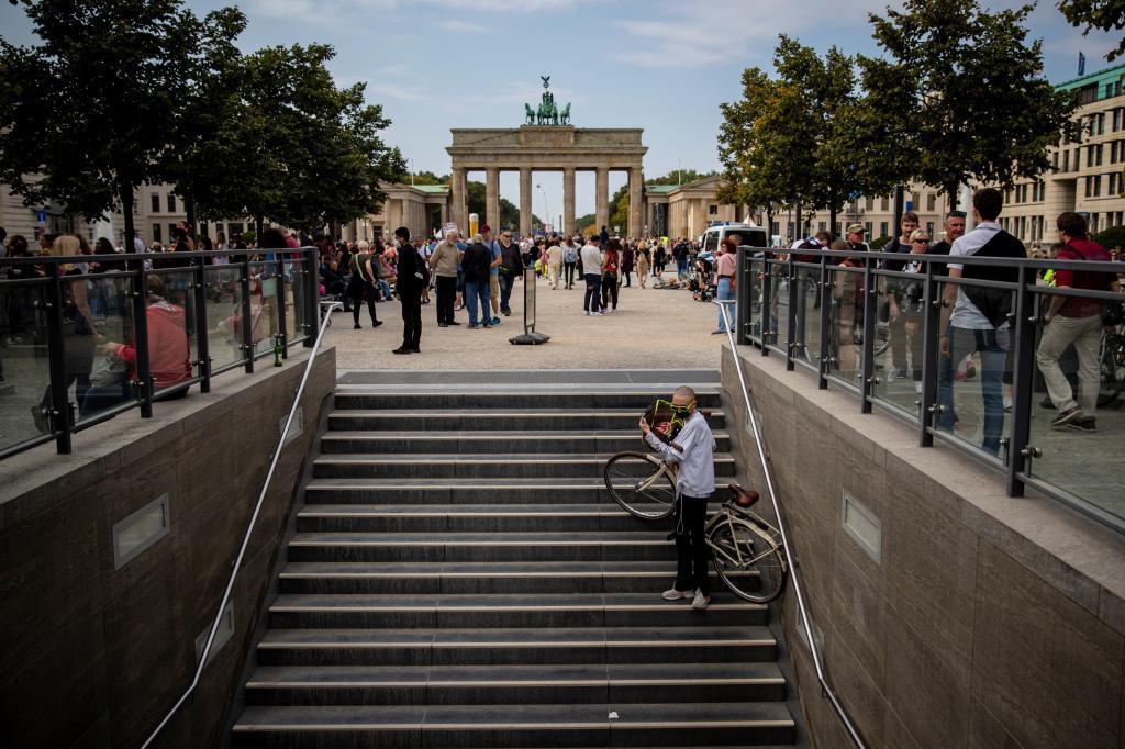 Berlín el pasado domingo, durante la jornada electoral.