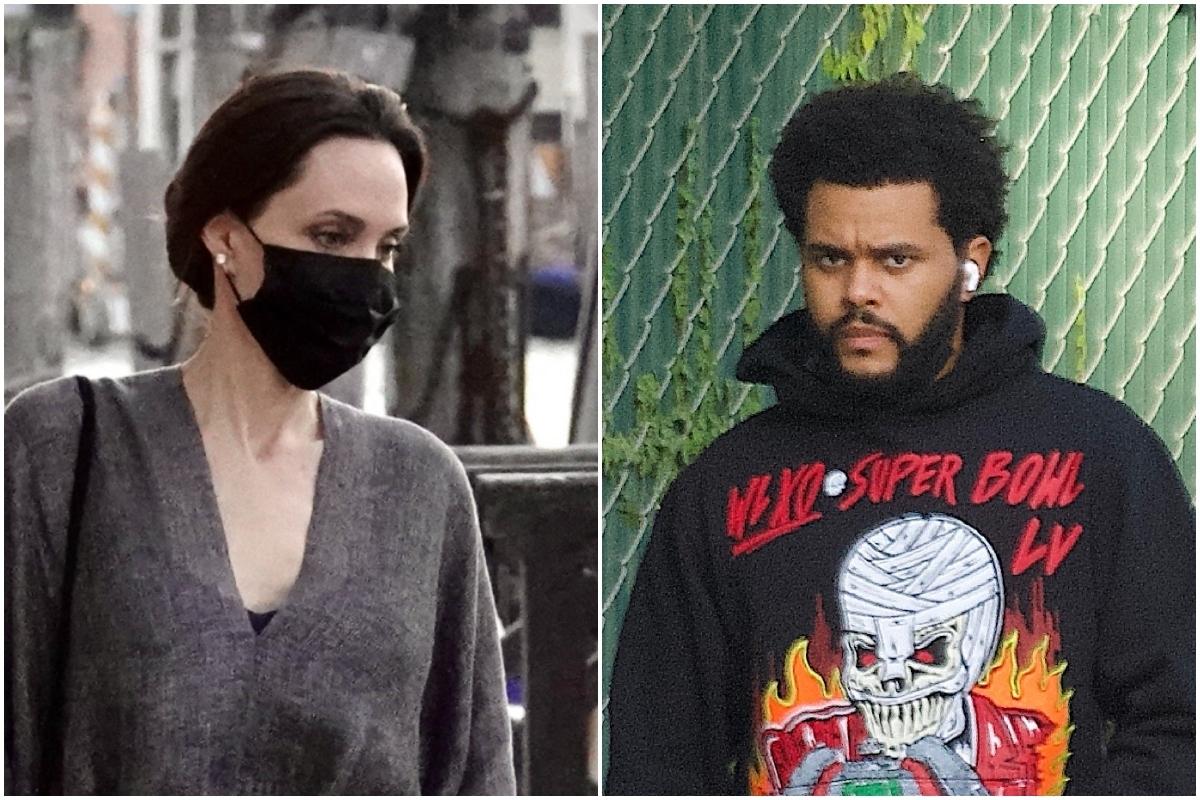 Angelina Jolie y Abel Tesfaye.
