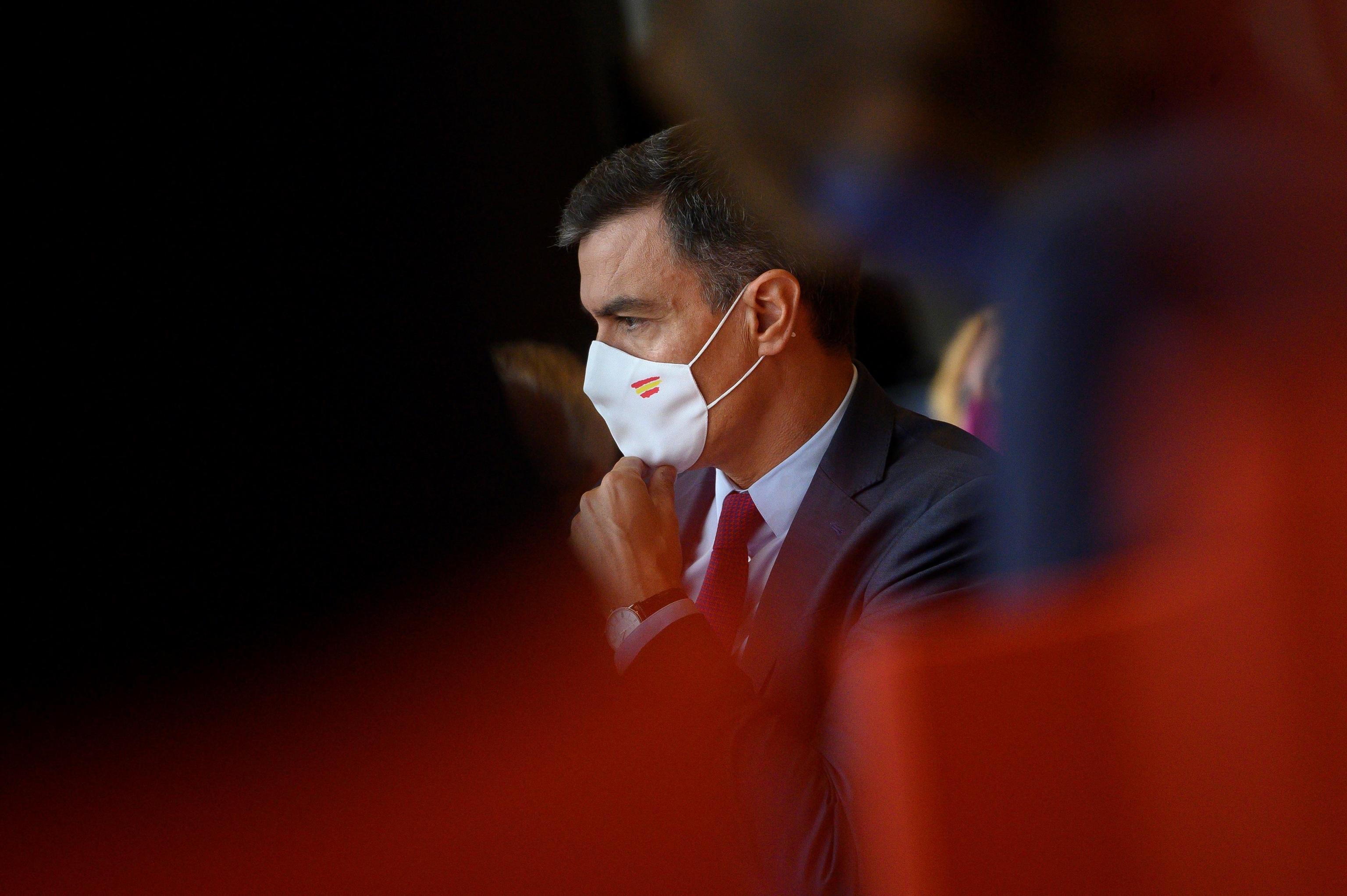 El presidente del Gobierno, Pedro Sánchez, este lunes en Santander.