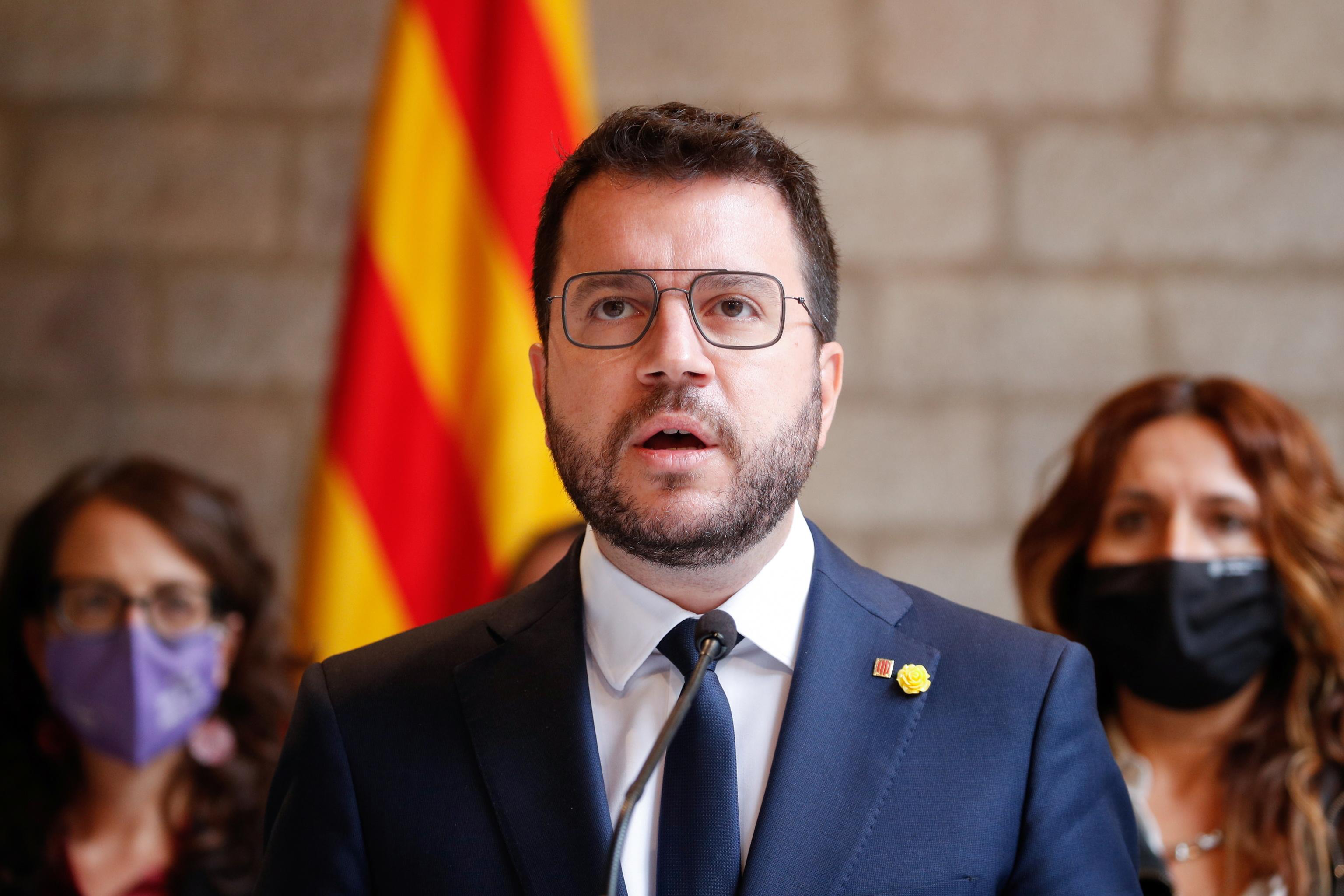El presidente de la Generealitat, Pere Aragonès.