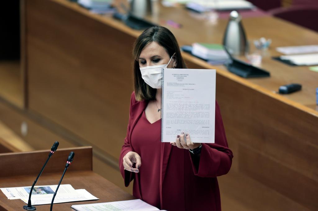 María José Catalá, este lunes en las Cortes.
