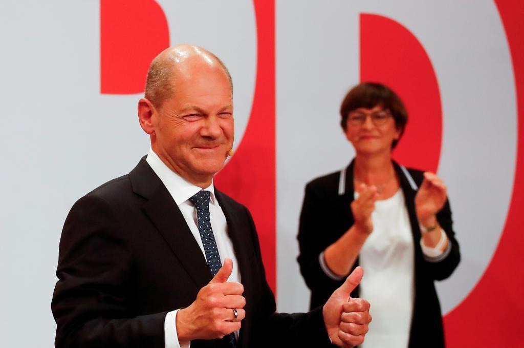 Olaf Scholz tras conocer su victoria en las elecciones alemanas.