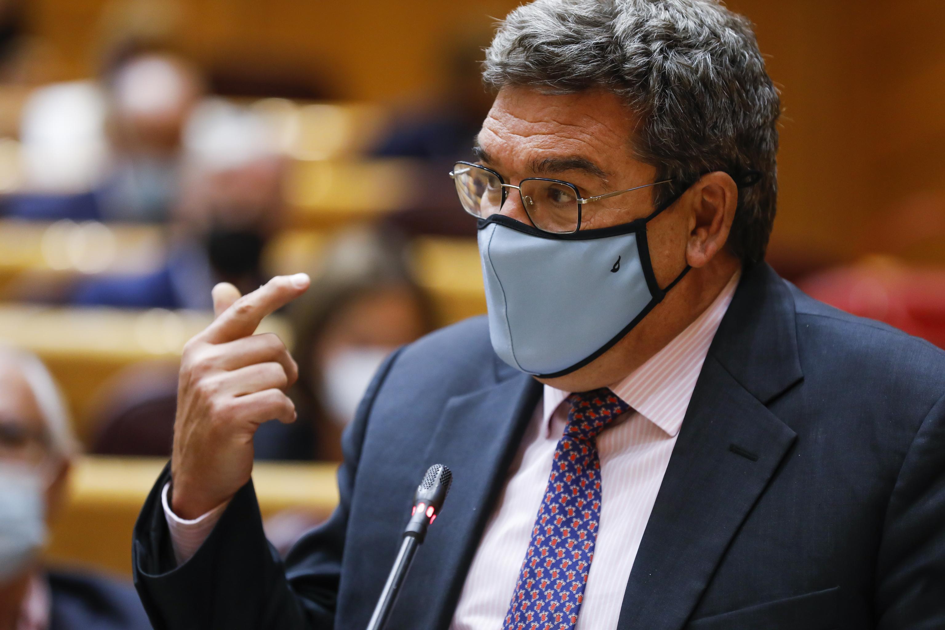 El ministro José Luis Escrivá la semana pasada en el Senado