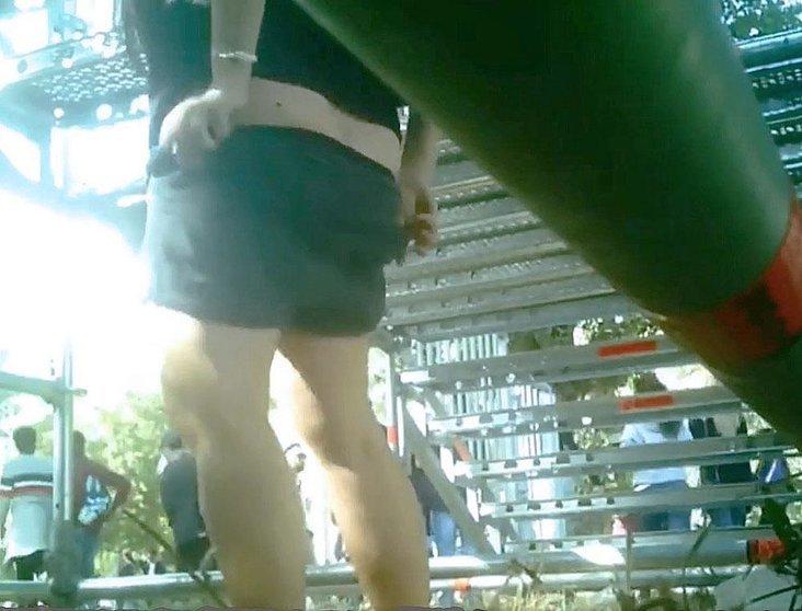 Fotograma de un vídeo de una denuncia similar en Burgos.