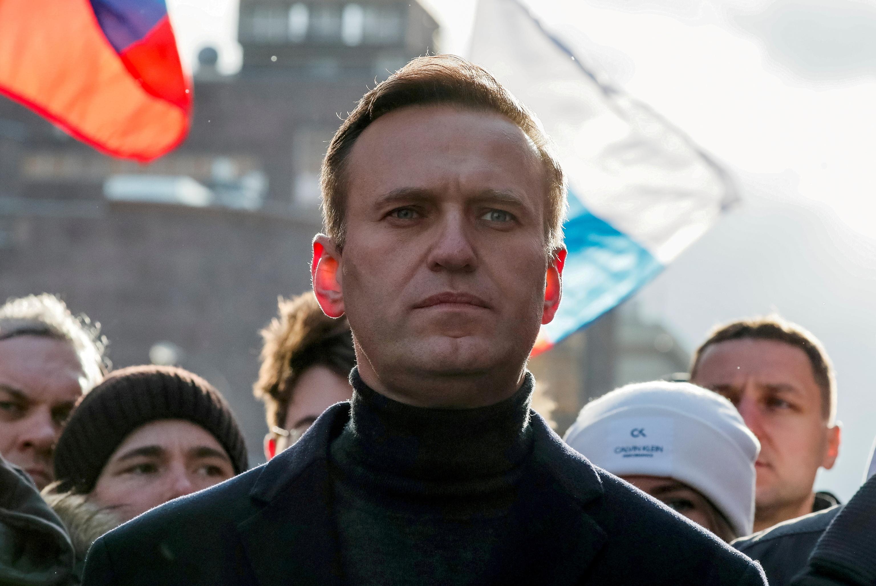 El disidente ruso Alexei Navalny, durante un mítin en Moscú en 2020.