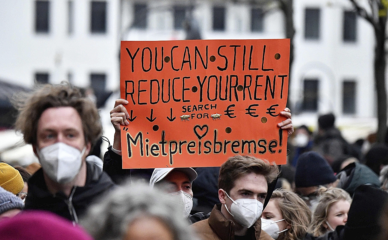 Protesta contra el mercado de alquileres en Berlín, el pasado mes de abril.