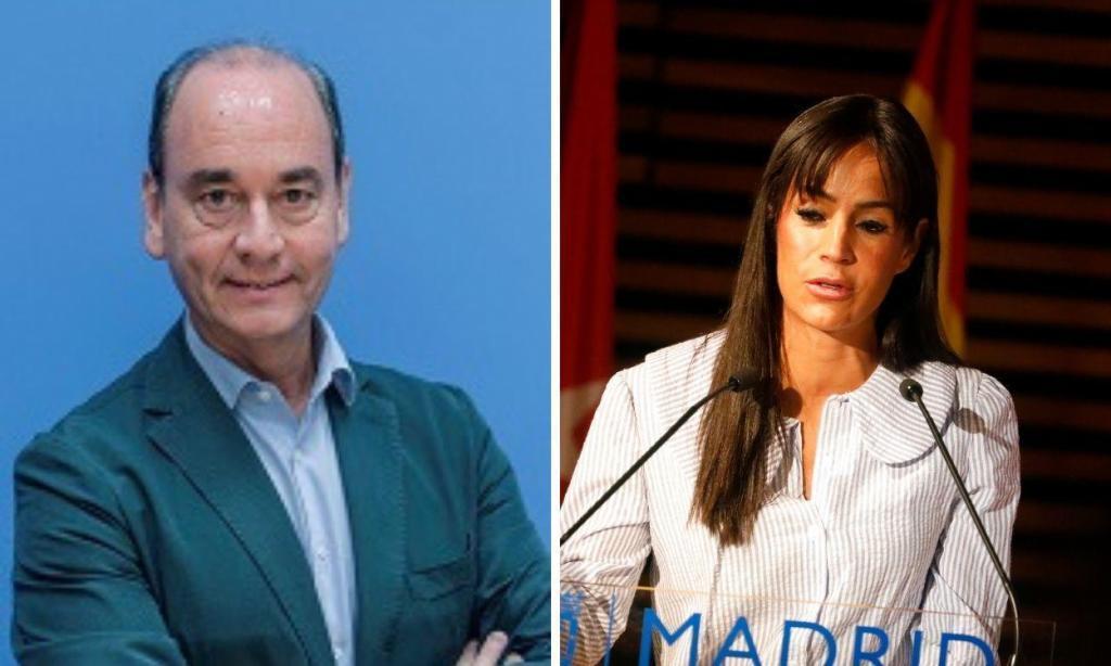 Fernando Martínez, concejal de Vox en el ayuntamiento de Madrid, y la vicealcaldesa Begoña Villacís.