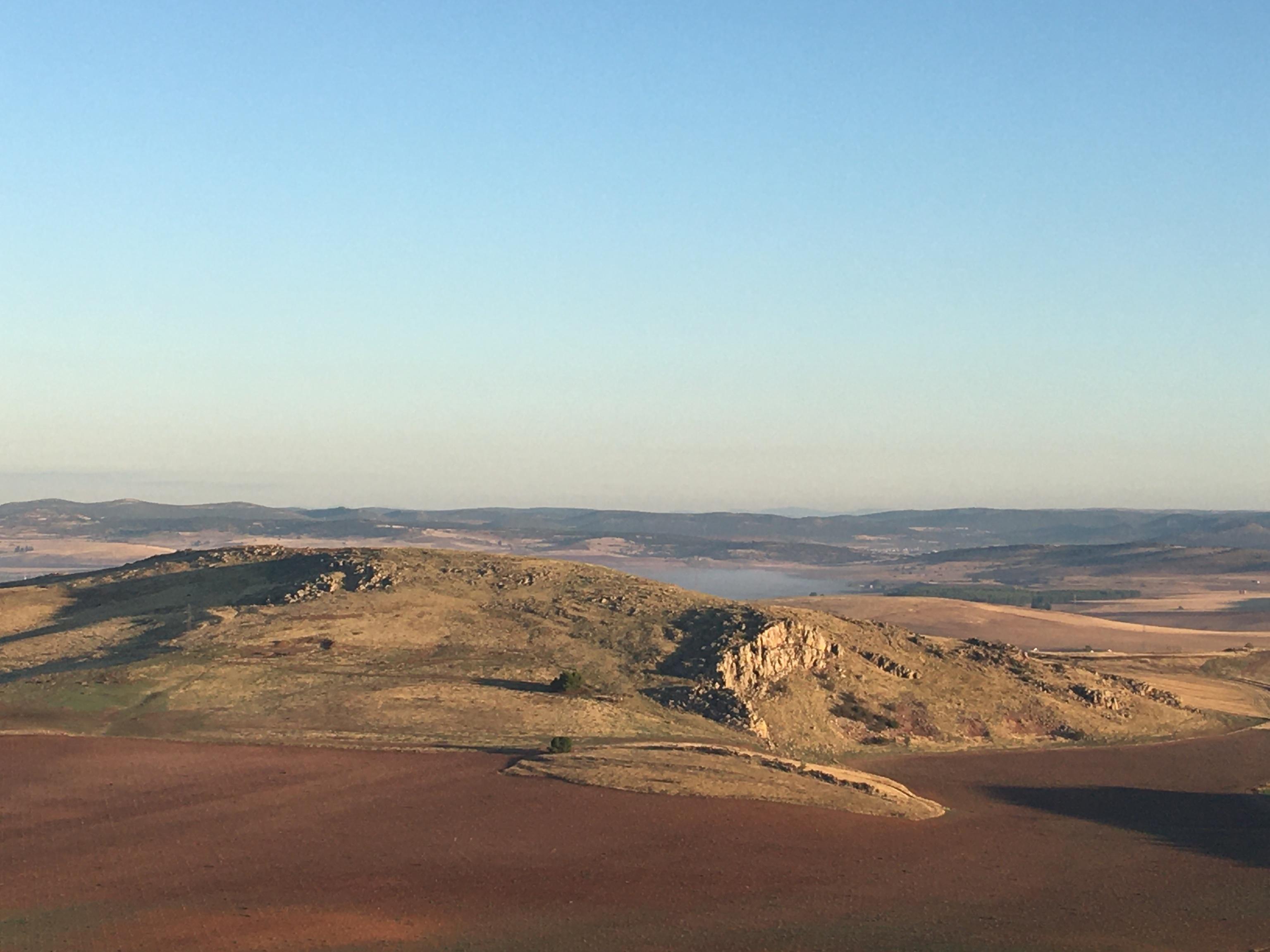 Panorámica de algunos de los cráteres de la zona.