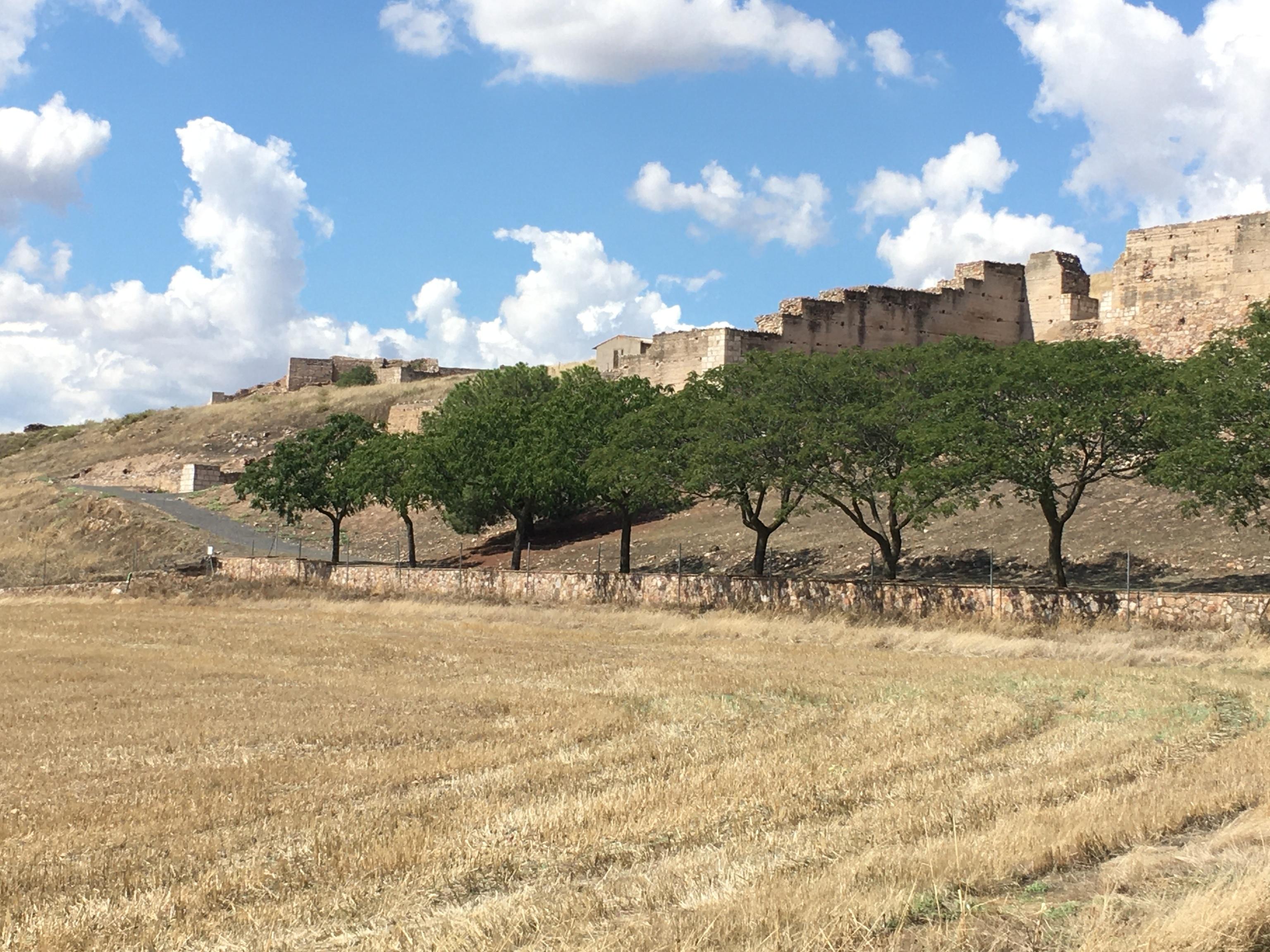 Vista del castillo de Alarcos.