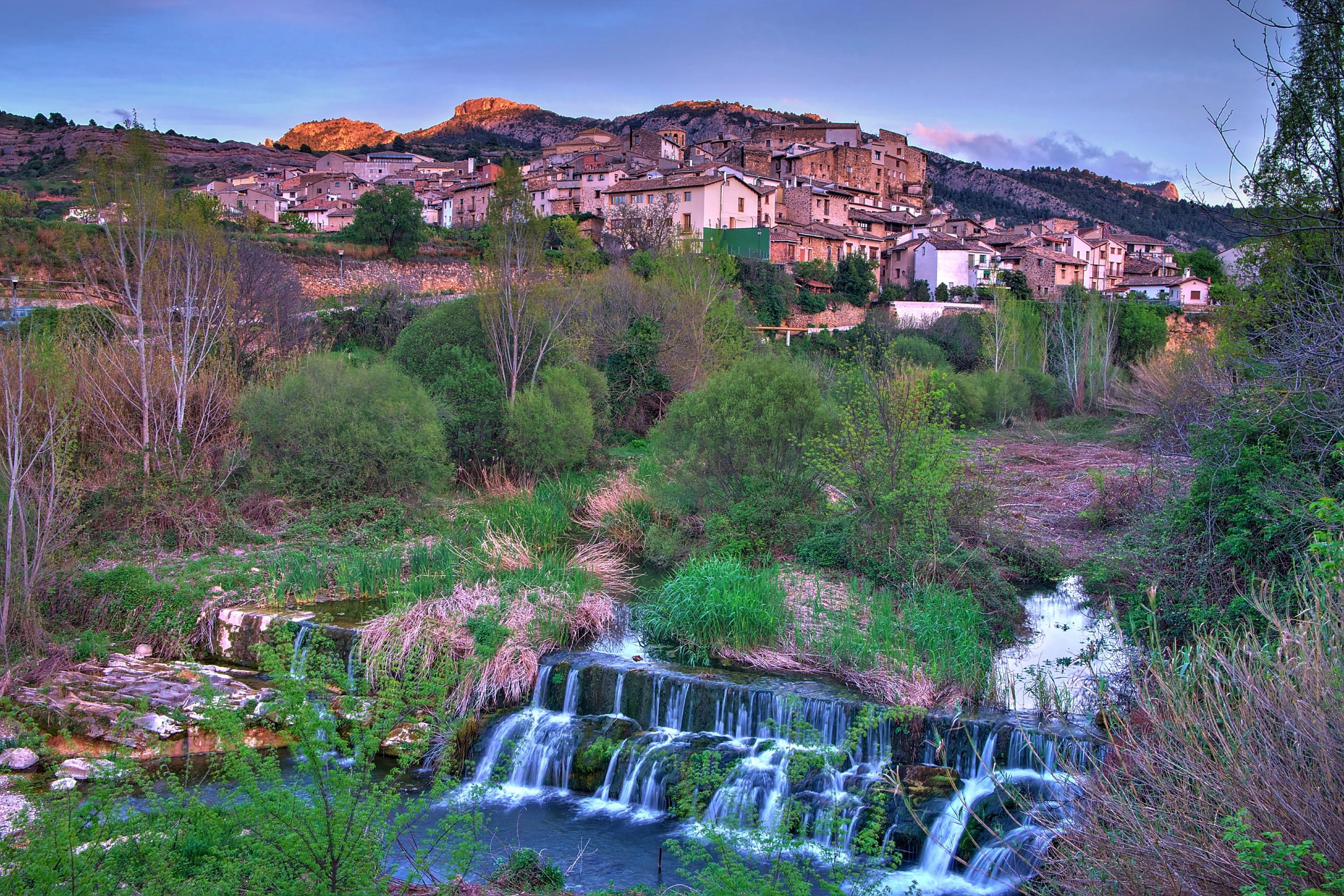 Entorno natural de El Parrizal, en Beceite.