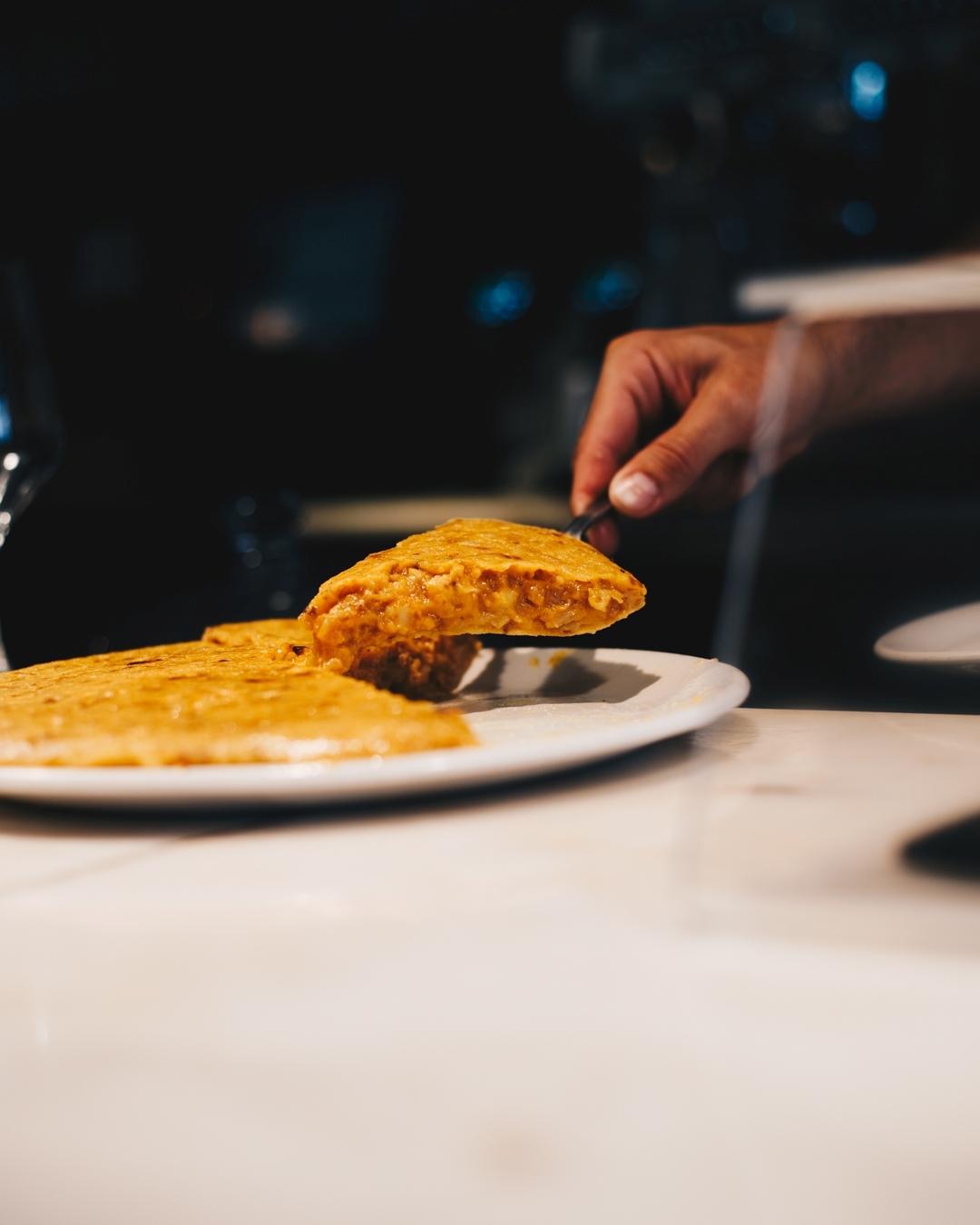 Tortilla de Cañadío.