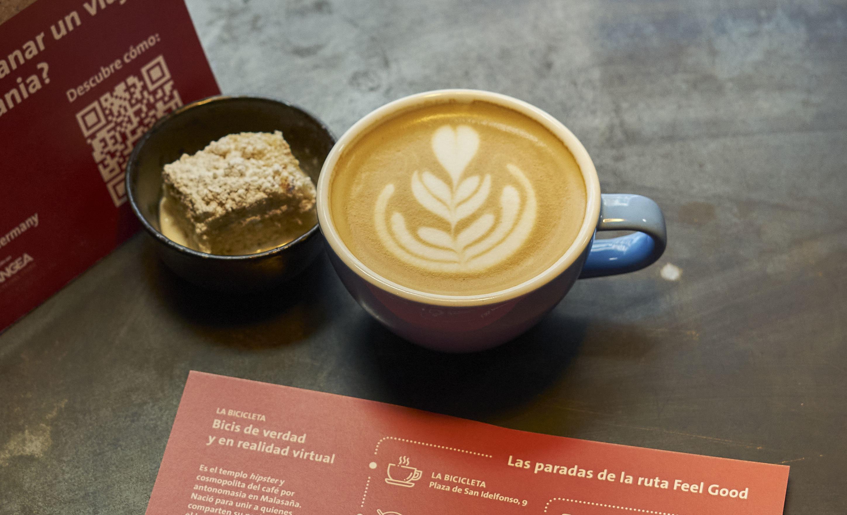 El café de especialidad berlinés y el 'streuselkuchen' en La Bicicleta.