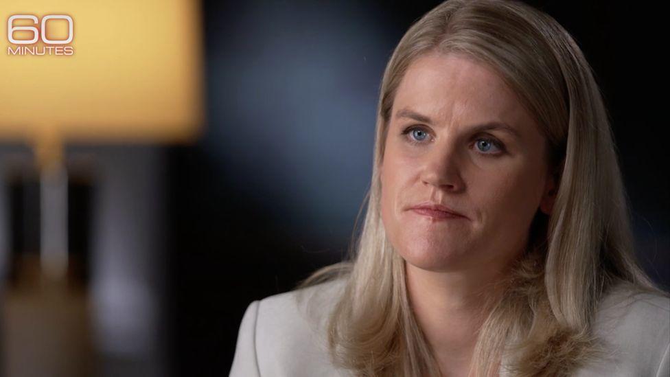 Frances Haugen , una científica de datos de 37 años de Iowa, en la entrevista con el programa de noticias 60 Minutos de CBS.