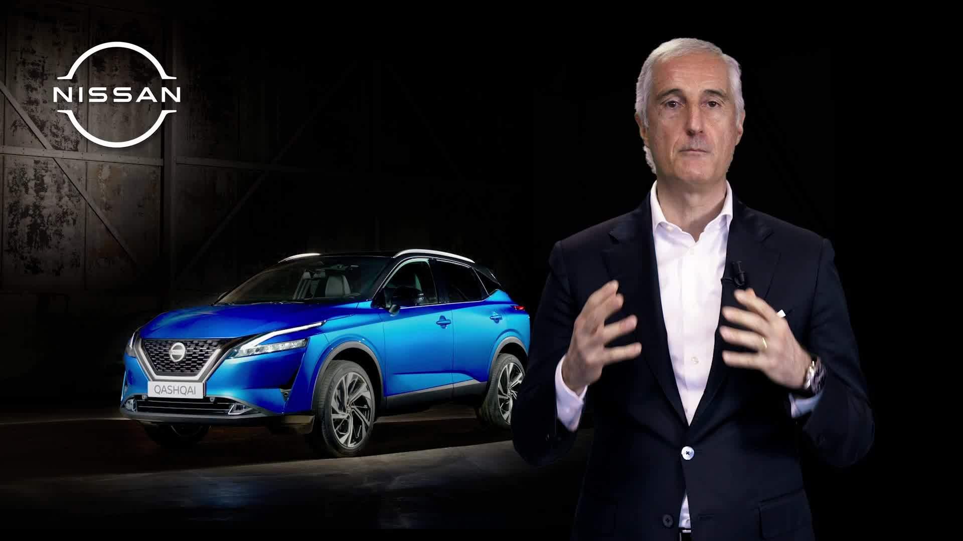 Bruno Mattucci  durante una presentación del Nissan Qashqai.