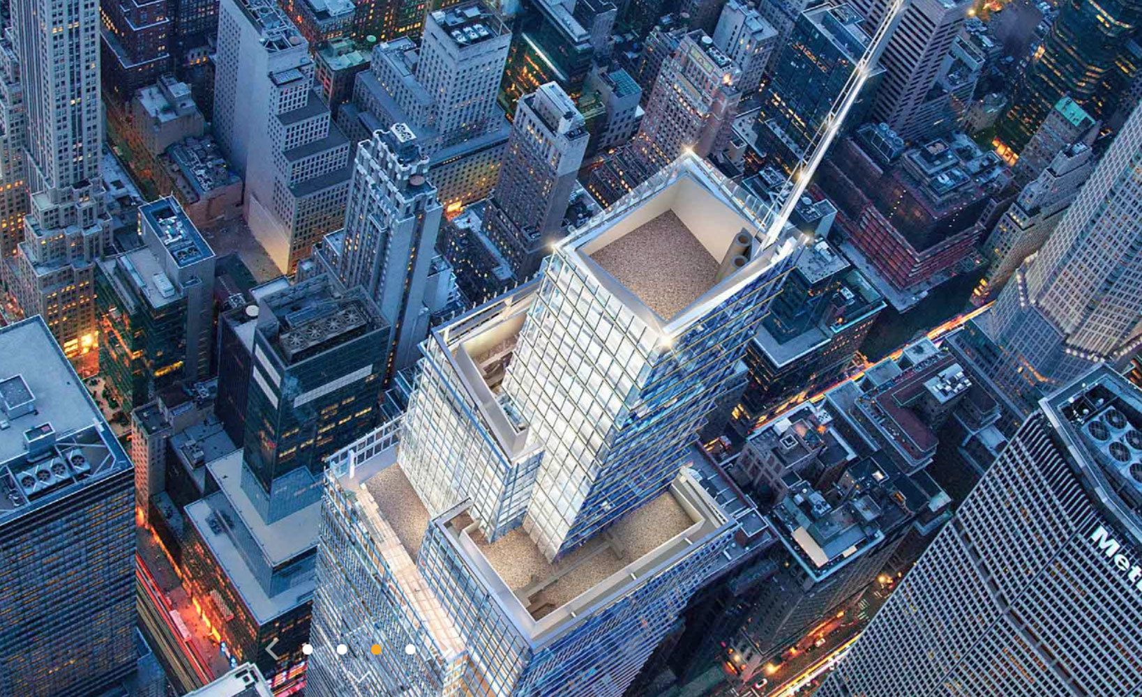 Vista desde el One Vanderbilt de Nueva York, el tercer mejor rascacielos.
