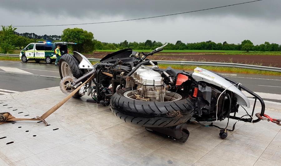 Image de archivo de un accidente de moto