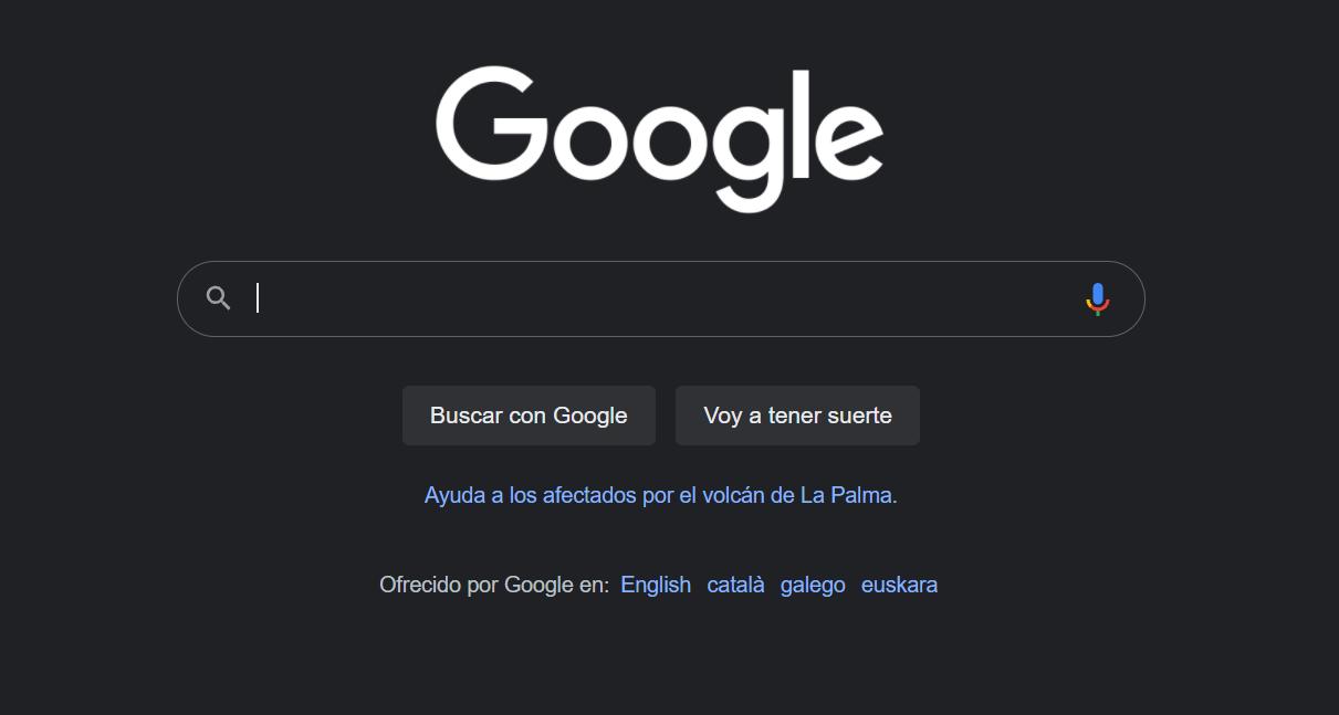 El buscador de Google añade un enlace para ayudar a los afectados de La Palma