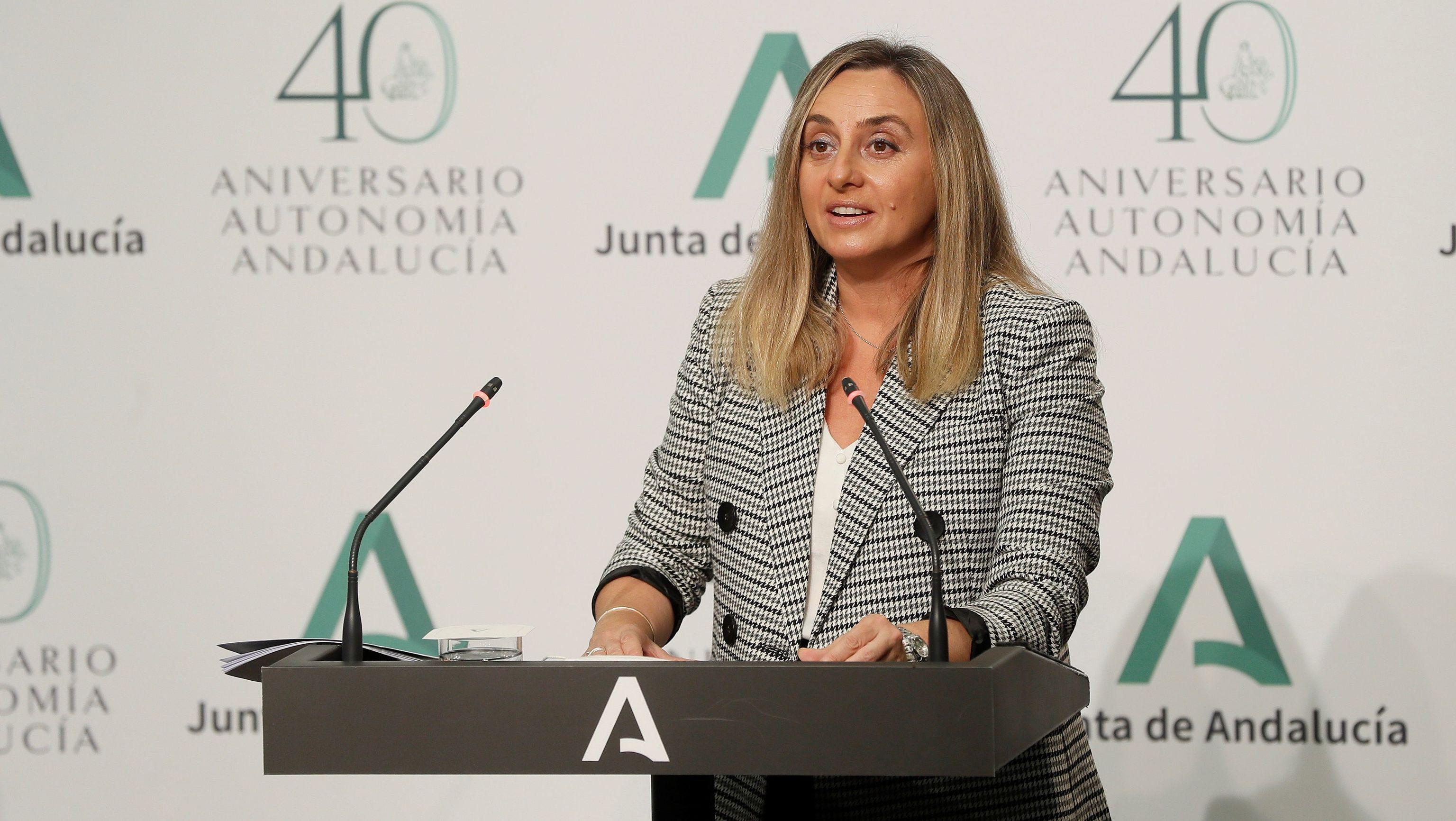 La consejera andaluza de Fomento, Marifrán Carazo.