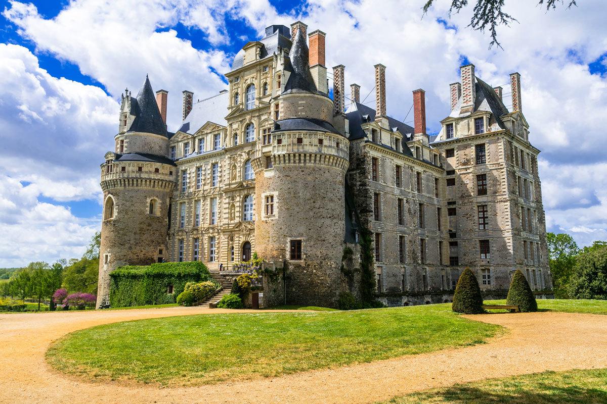 Vista del castillo de Brissac, ubicado en la región del Loira Atlántico.