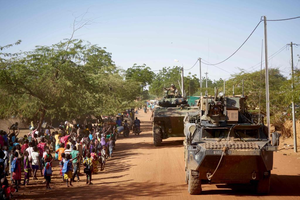 Fuerzas europeas de la 'operación Barkhane', desplegadas en Burkina Faso.