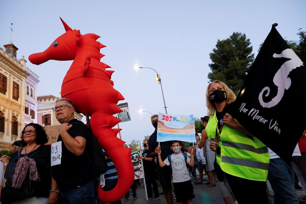 Manifestación por el Mar Menor.