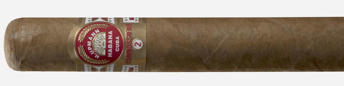 H. UPMANN CONNOSSIEUR No.2: Longitud: 134 mm. Cepo: 51. Peso: 13,4 gr. Cata: Habano muy cómodo de fumar para quienes deseen una fortaleza de tipo medio/bajo, con un tiro especialmente bueno, un magnífico equilibrio de sabores y aromas, así como rastros tabaqueros bien ensamblados con la madera. Tiempo de fumada: 55/60 minutos.