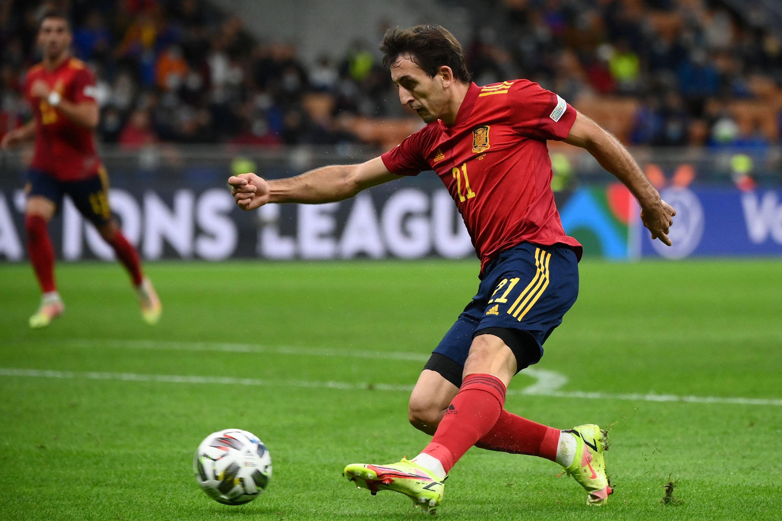 Oyarzabal, durante el partido ante Italia.