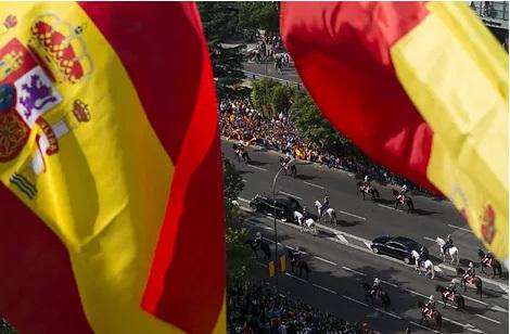 Celebración del desfile militar del 12 de octubre en Madrid.