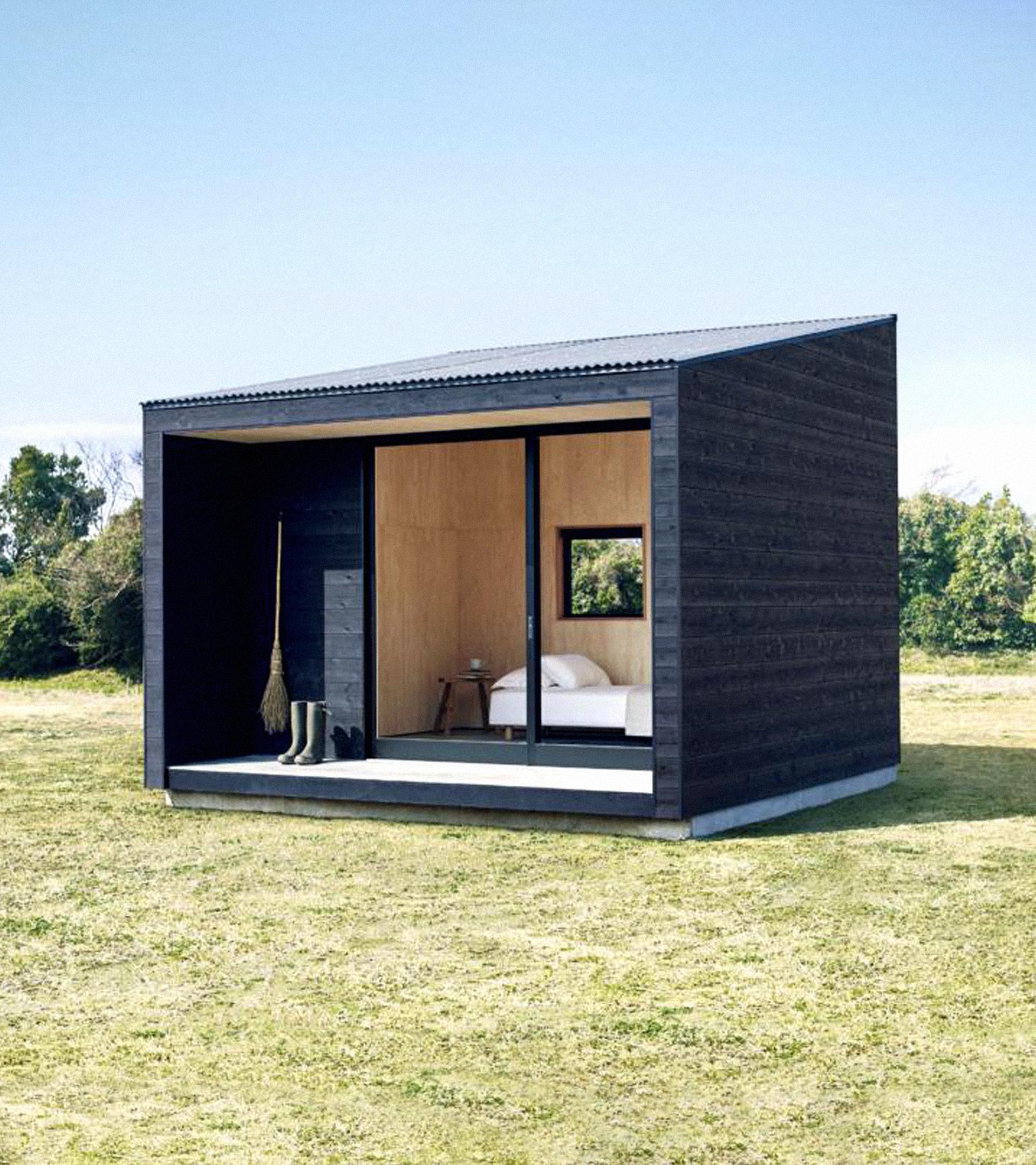 Un modelo de cabaña de Muji.