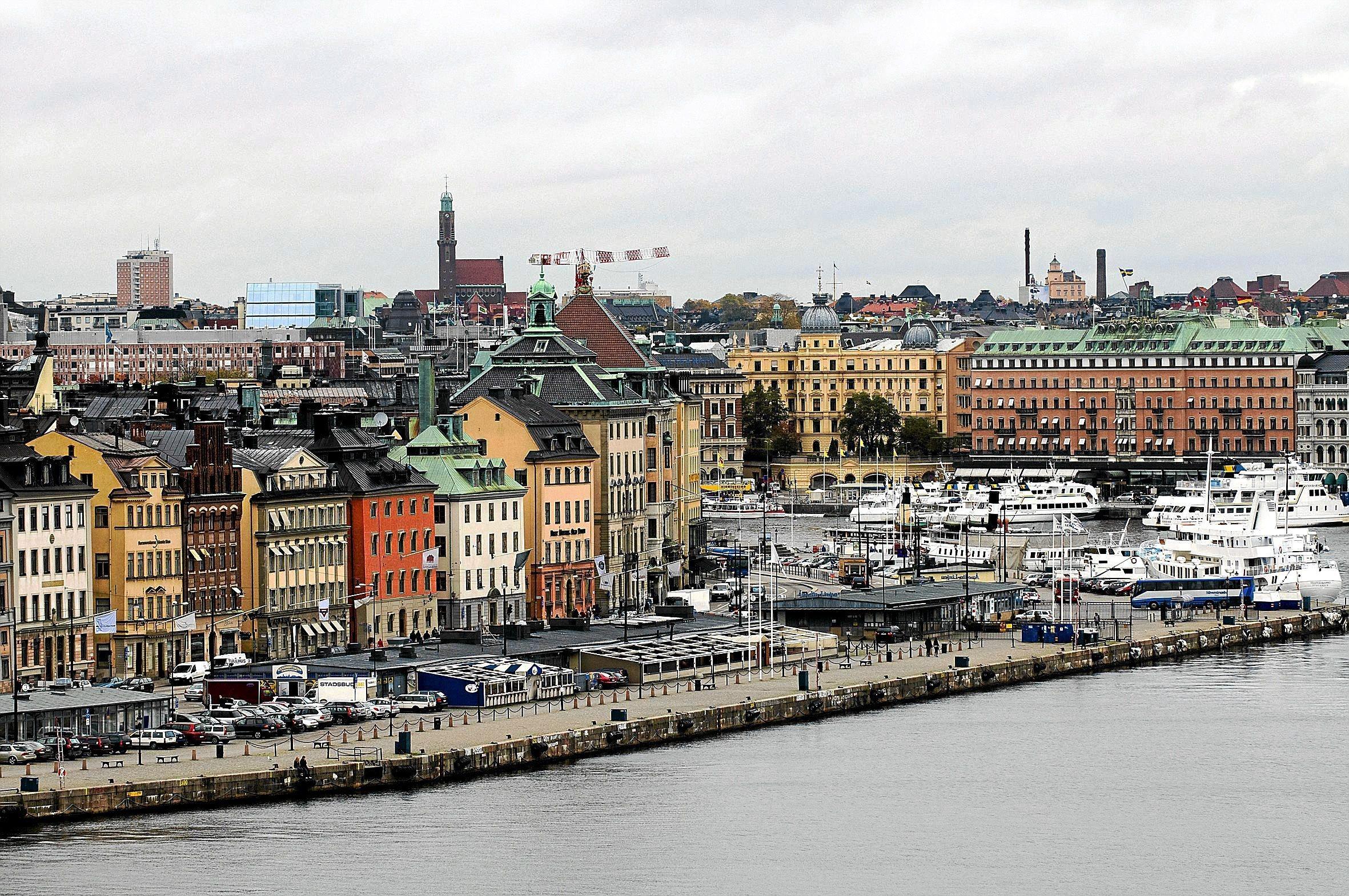 Vista turística de Estocolmo.