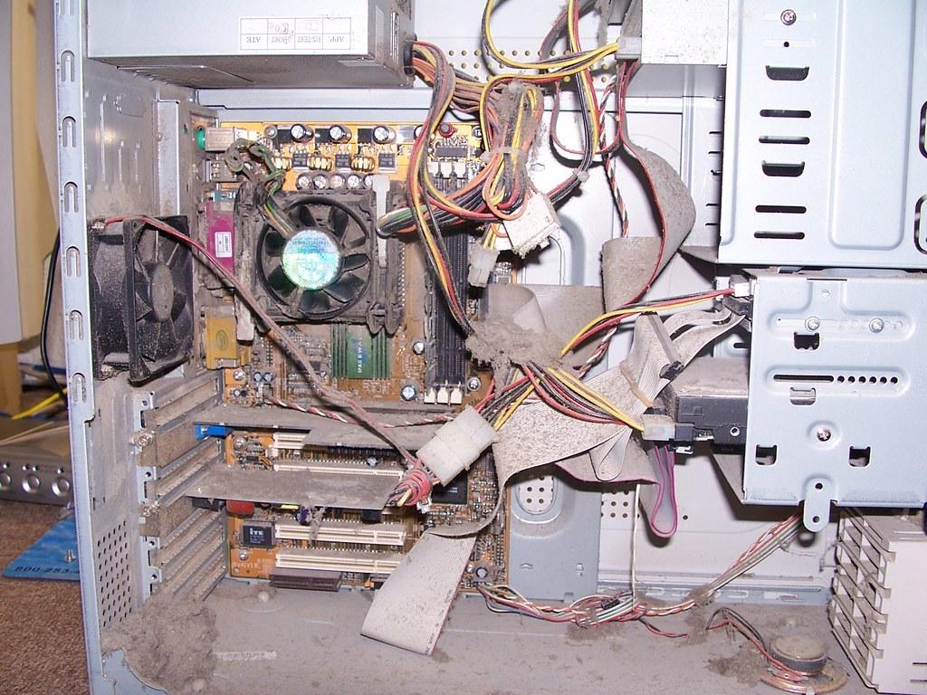 El polvo se acumula en el interior de los ordenadores con facilidad.