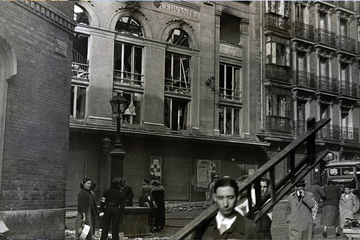 El Teatro Cervantes fue bombardeado en noviembre del 36.