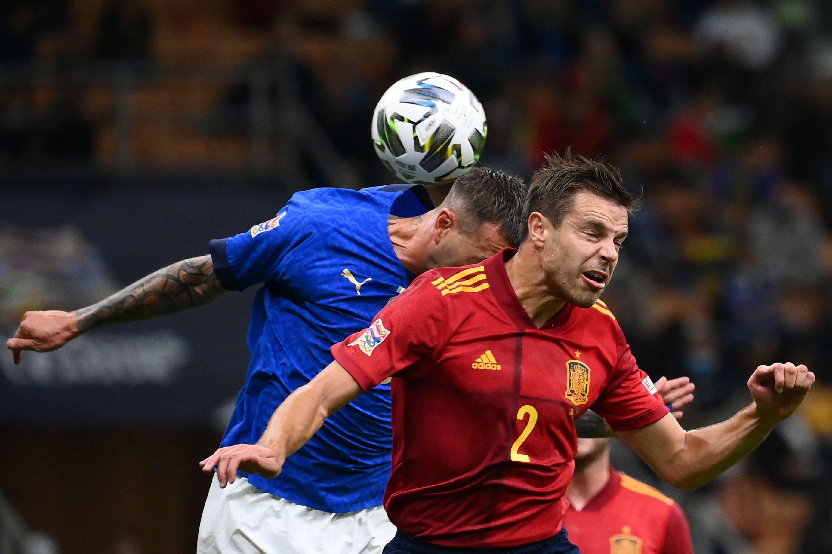 Azpilicueta, durante el Italia-España de la Liga de Naciones.
