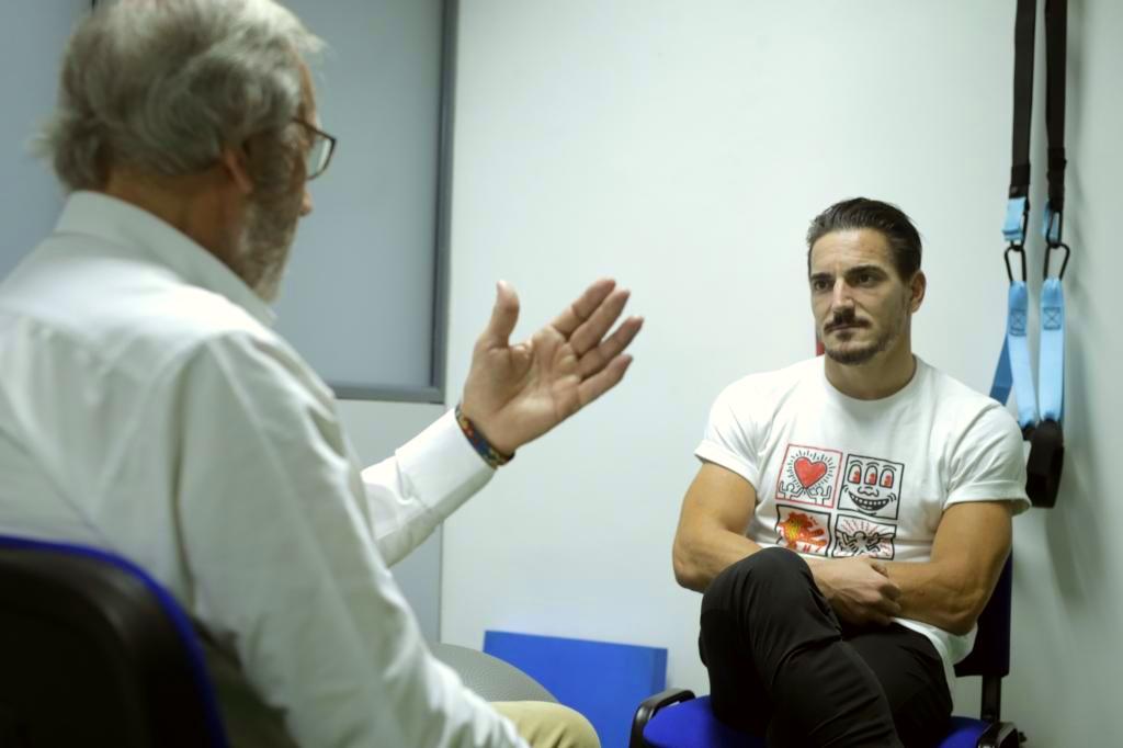 Del Río y Quintero conversan.