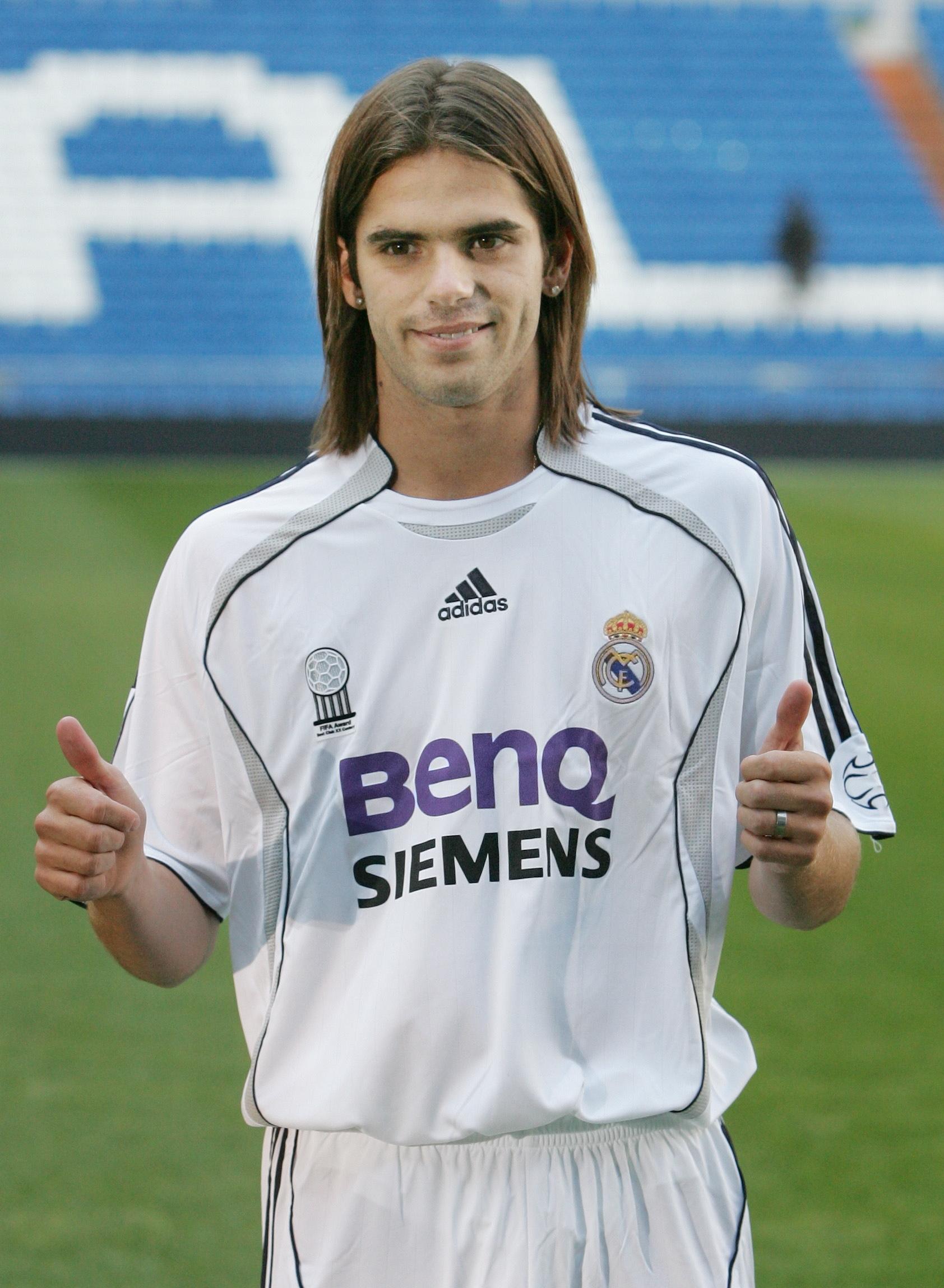 El futbolista, con la equipación madridista, en 2006.