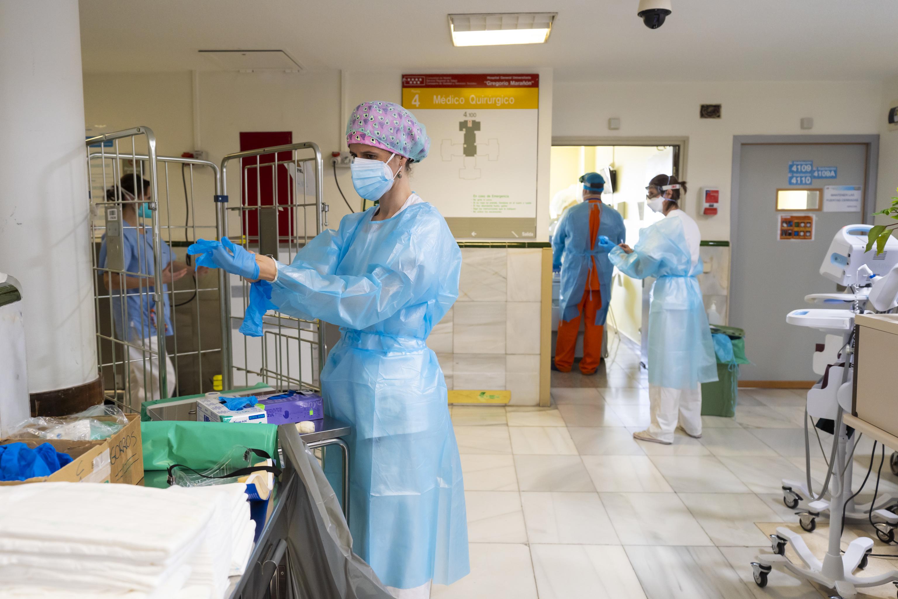 Pasillos del hospital Gregorio Marañón de Madrid.