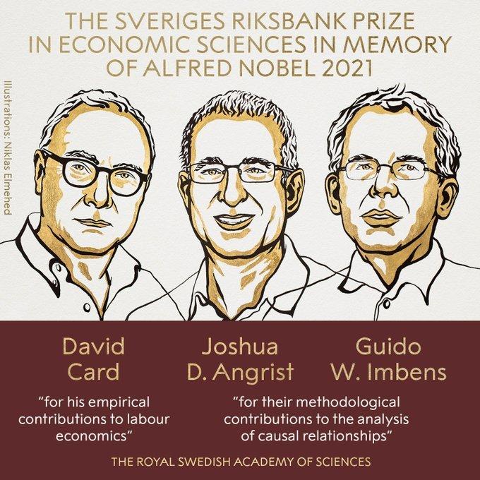 David Card, Joshua D. Angrist y Guido W. Imbens ganan el Premio Nobel de Economía