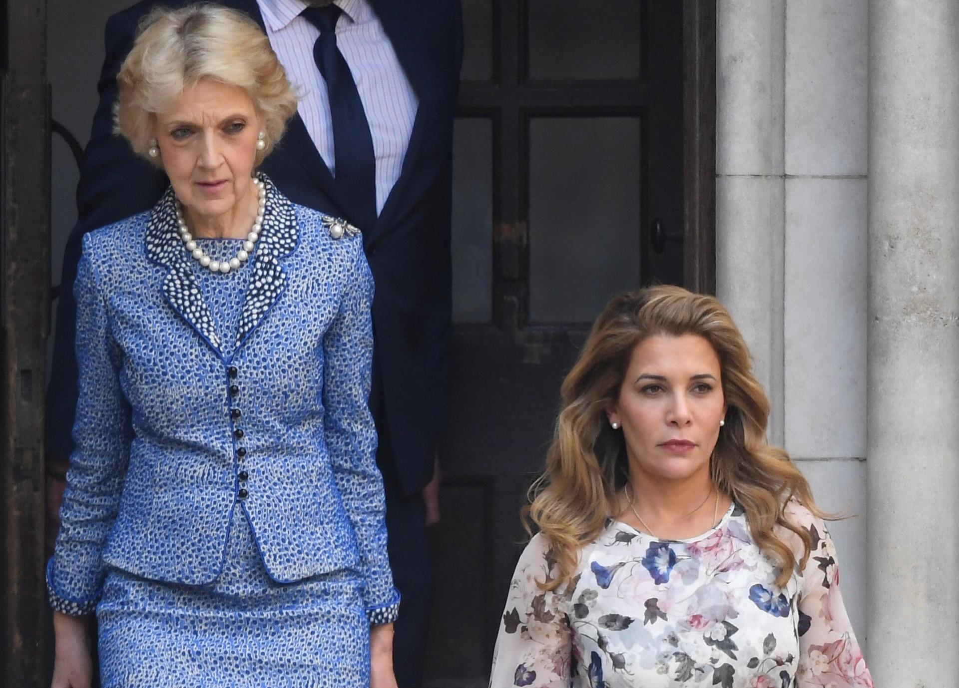 Con una de sus clientas actuales, la princesa Haya de Jordania.