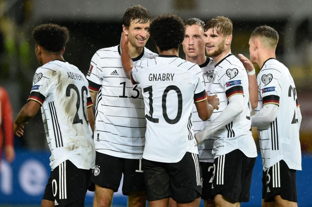 El conjunto alemán celebra uno de sus goles.