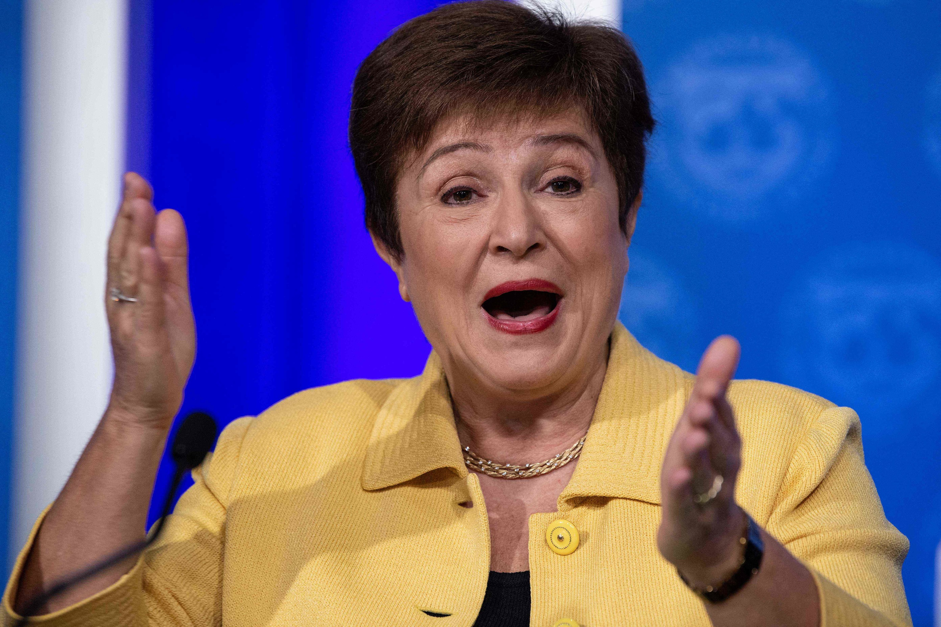 La directora del Fondo Monetario Internacional, Kristalina  Georgieva.