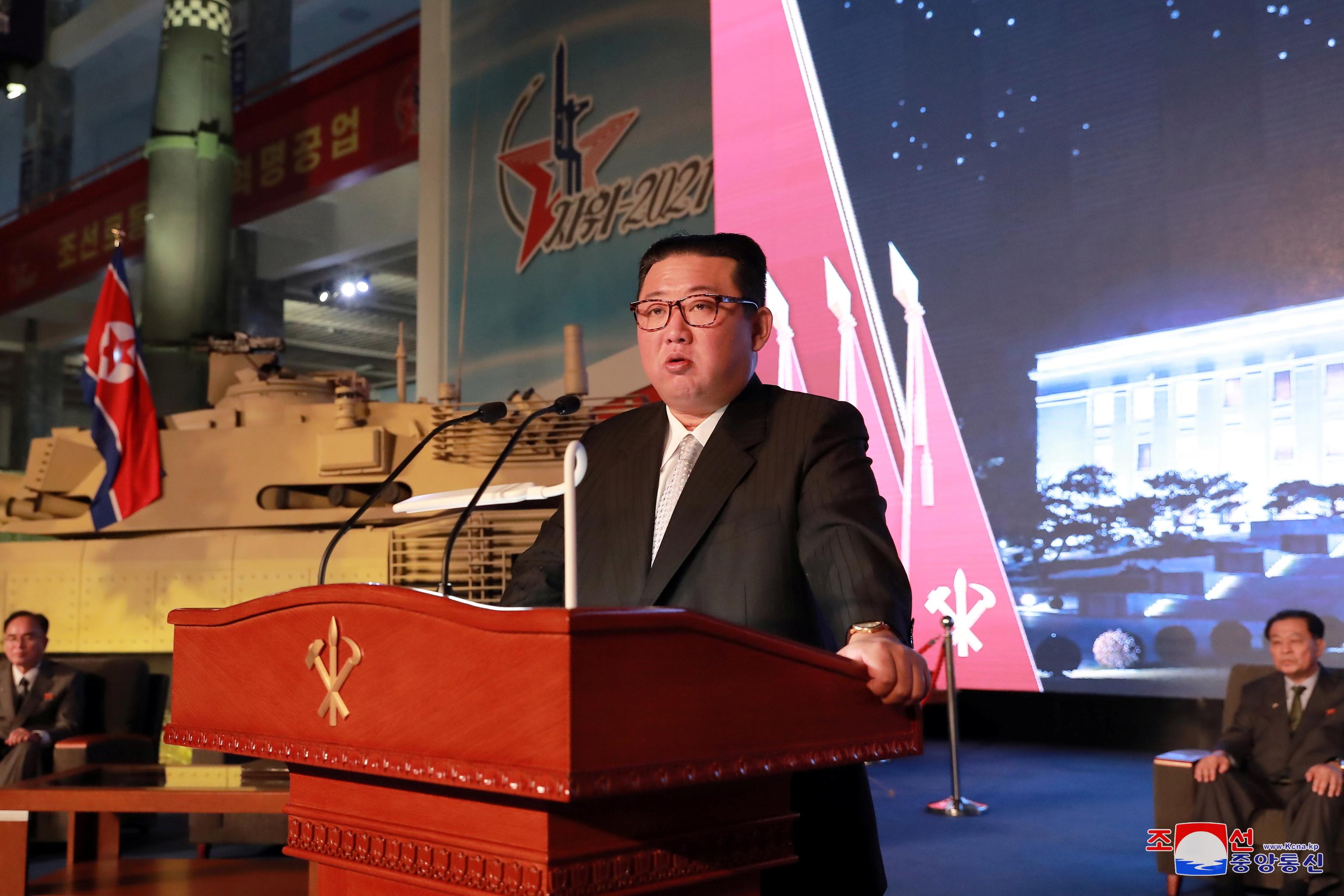 Kim Jong-un, en su discurso en Pyongyang.