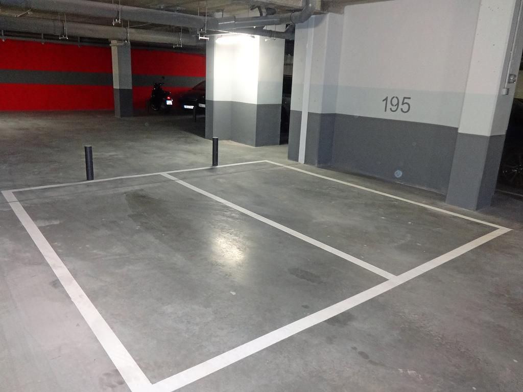 Una plaza de garaje en Madrid.