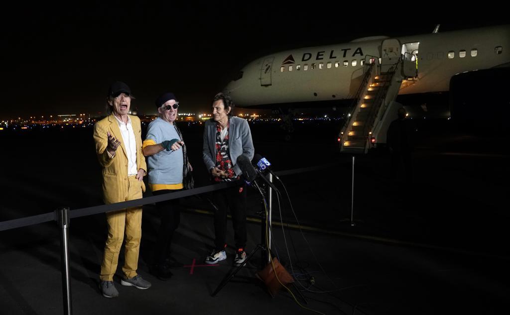 Mick Jagger, Keith Richards y Ron Wood, en California, el lunes pasado.