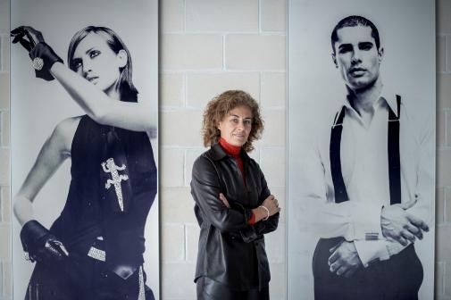 Cristina Mariño en la sede de Roberto Verino en Orense.