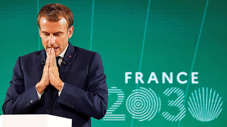 El presidente de Francia, Emmanuel Macron, en París.