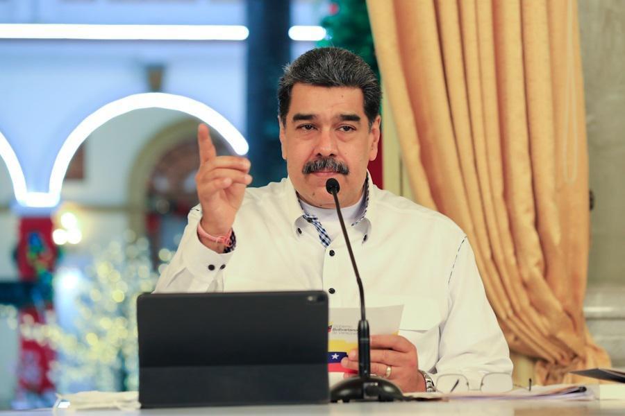 El presidente de Venezuela, Nicolás Maduro, durante un acto.